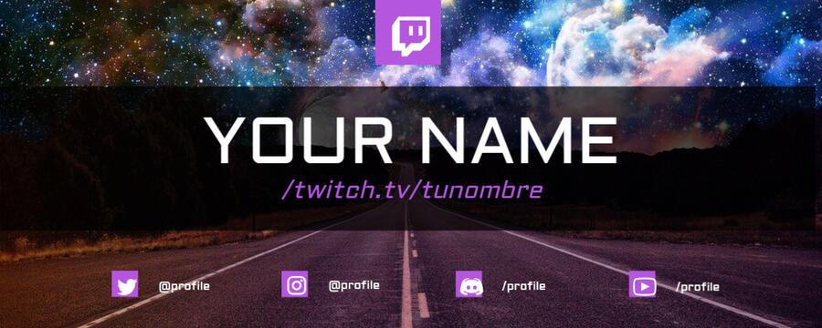 Edita un banner de Twitch
