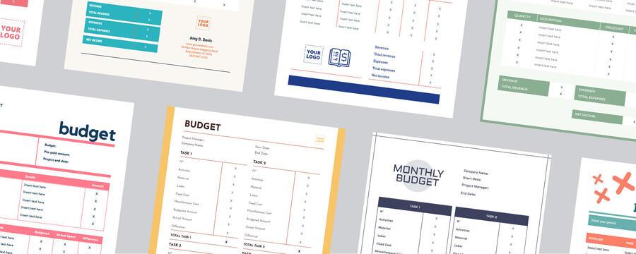 Edit a budget template
