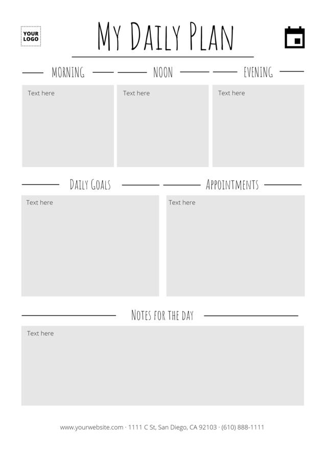 Edit a daily planner