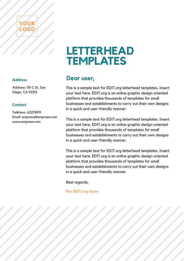 Edit a letterhead