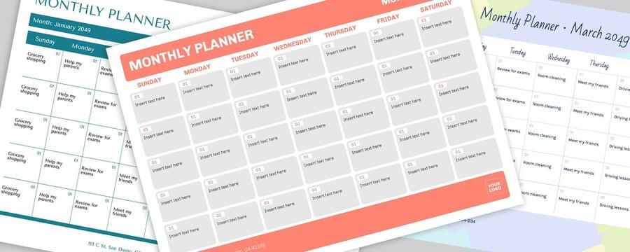 Edit a monthly planner