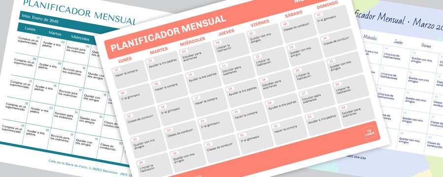 Edita un planner mensual
