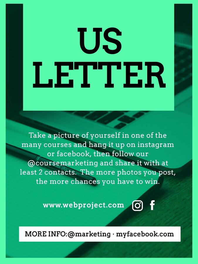 Edit a US letter template
