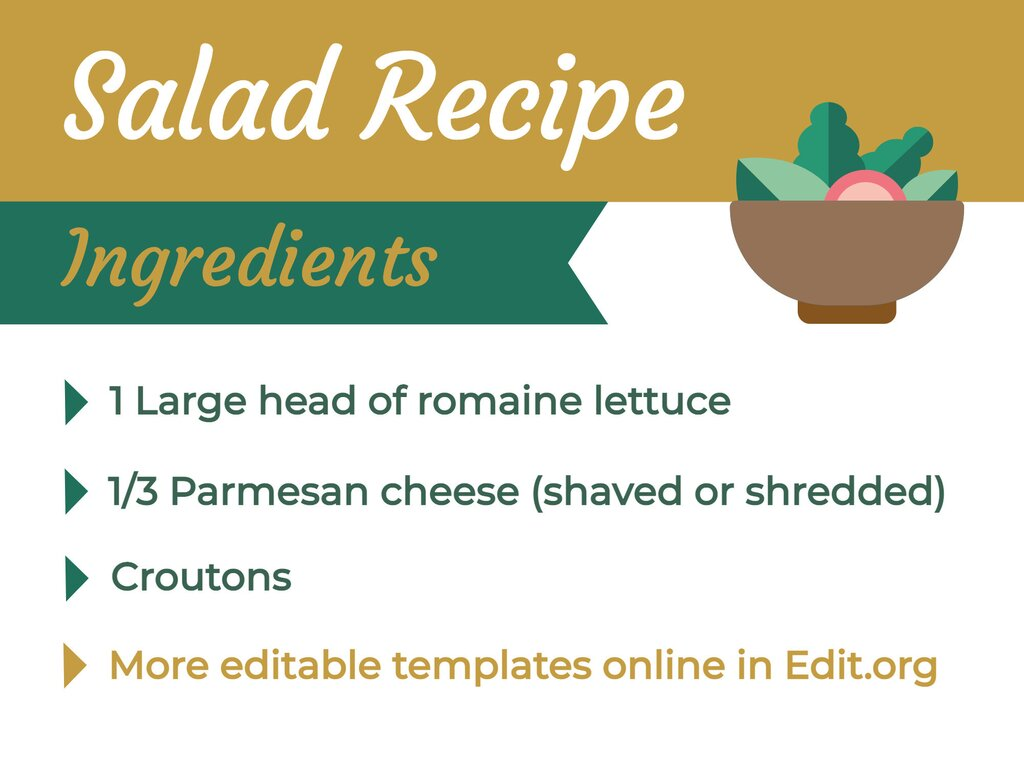Edit a template for recipes