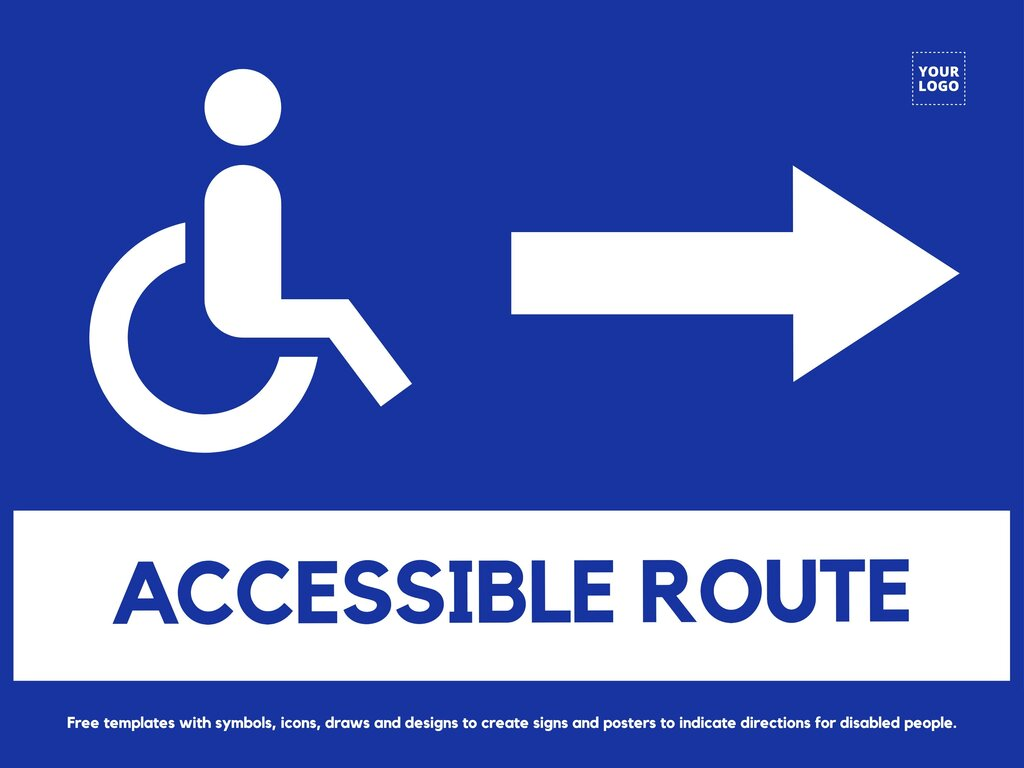 Edit signs for disabled
