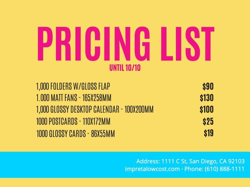 Edit a price list template