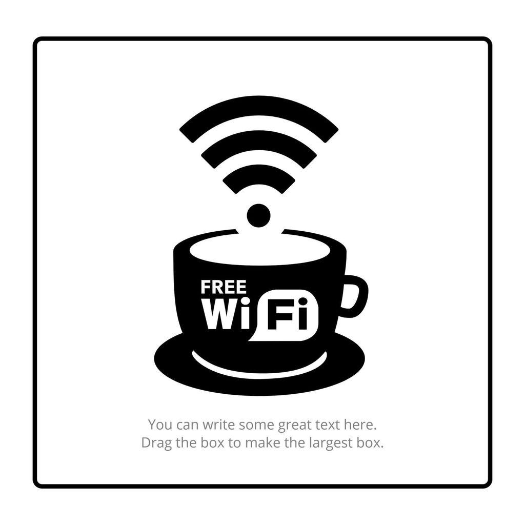 Criar meu cartaz de Wifi