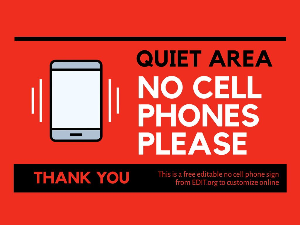 Edit a no cell phone sign