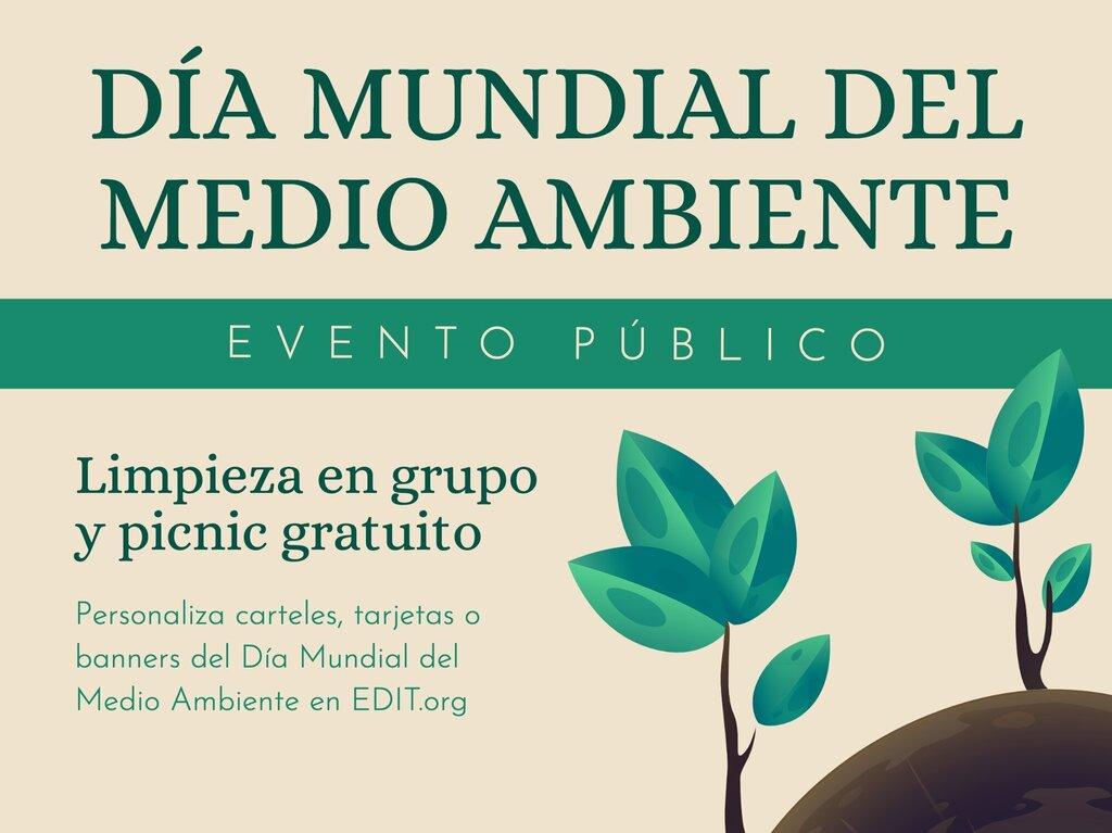 Edita una plantilla del Día Mundial del Medio Ambiente