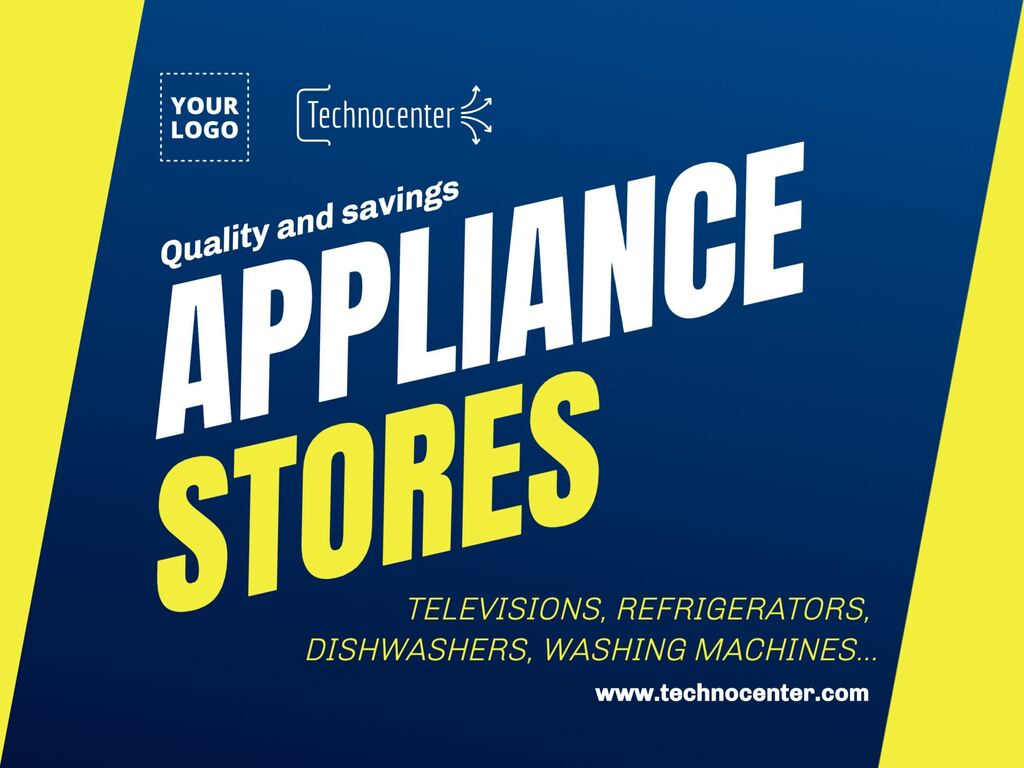 Editable posters for home appliance stores
