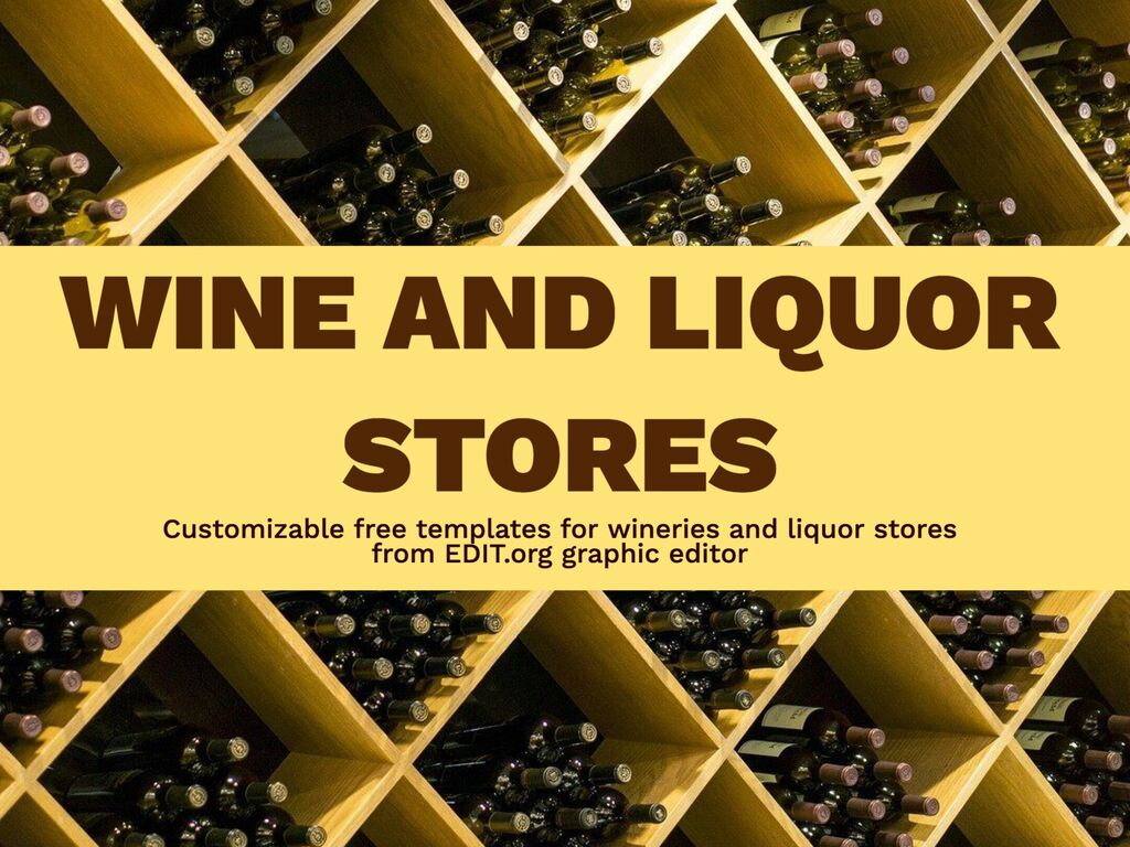 Edit a winery or liquor store design