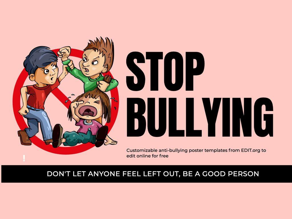 Edit an anti-bullying poster