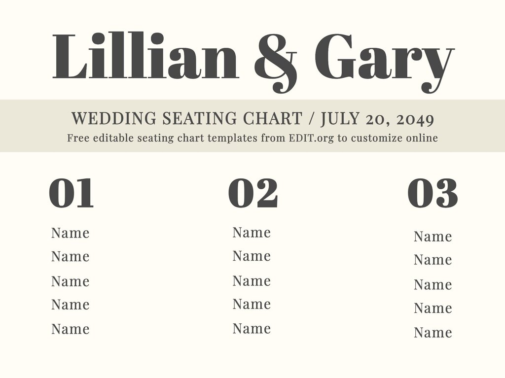 Edit a seating chart template