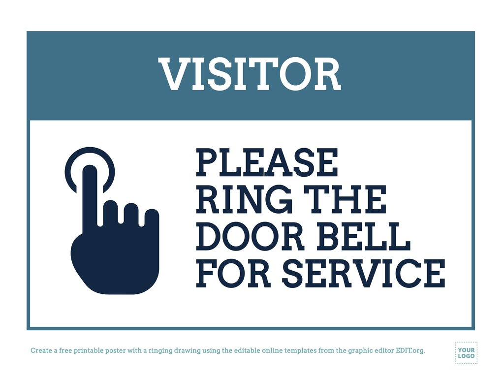 Create a Ring the Bell sign