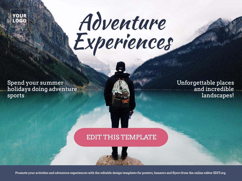 Edit an adventure activity template