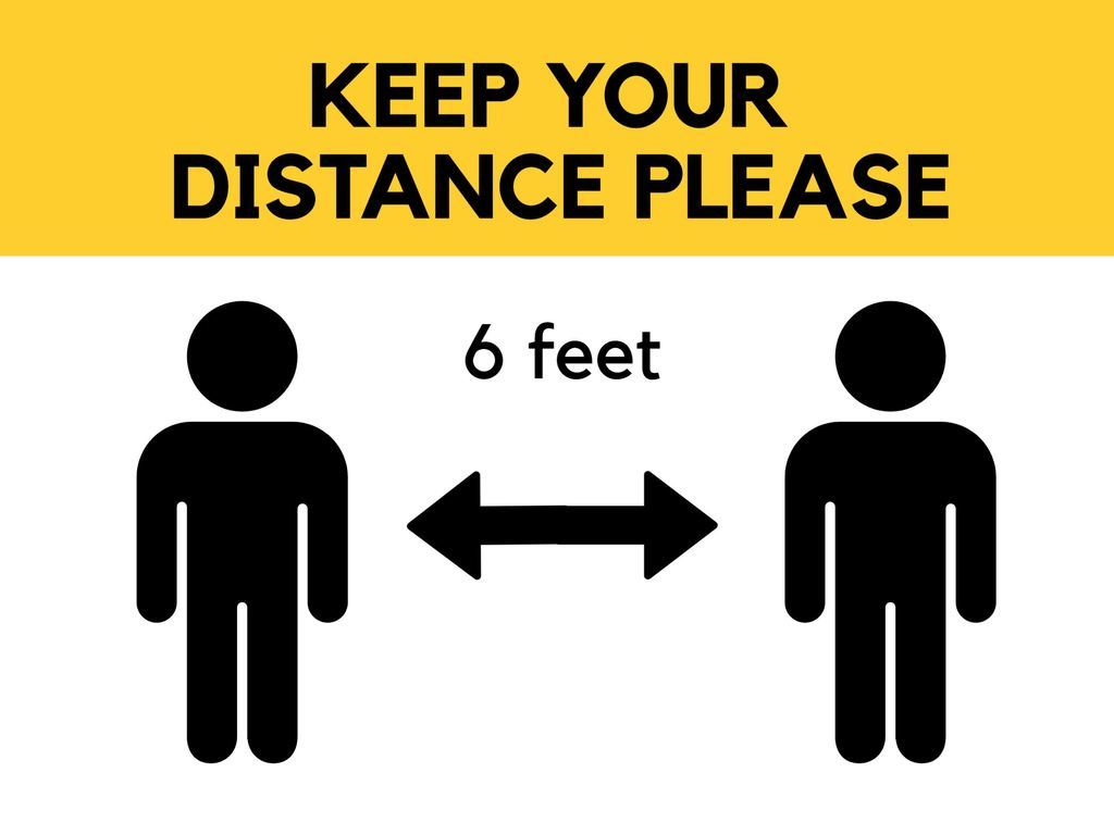 Social distance free posters