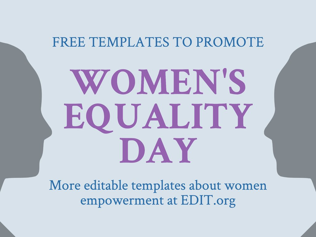 Edit a design for Women\'s Equality Day