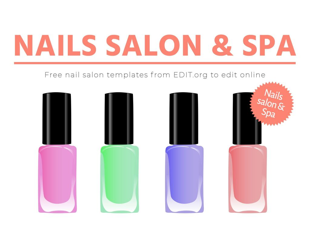 Edit a template for your nails salon