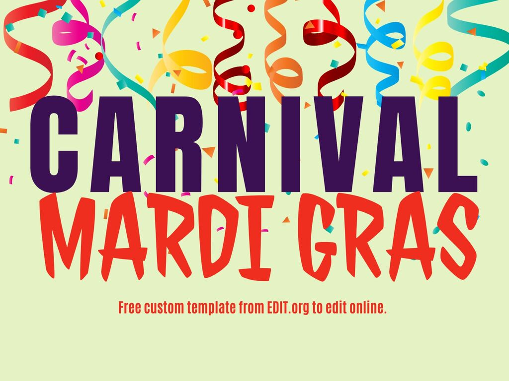 Edit a Carnaval and Mardi Gras poster