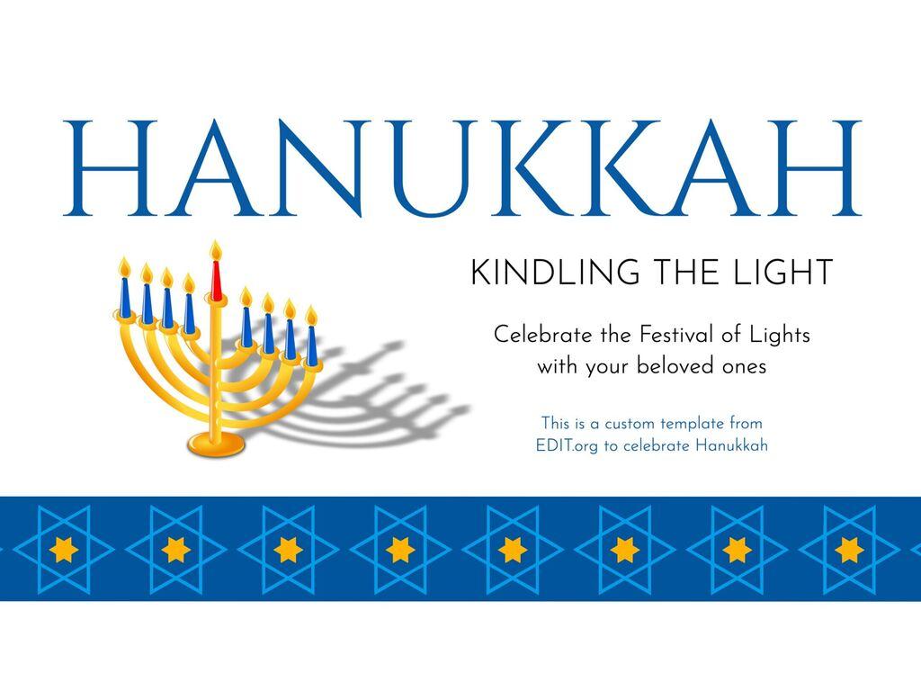 Hanukkah templates to customize online