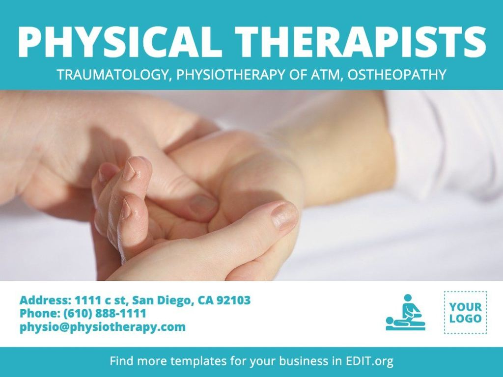 Edit a template for physical therapists