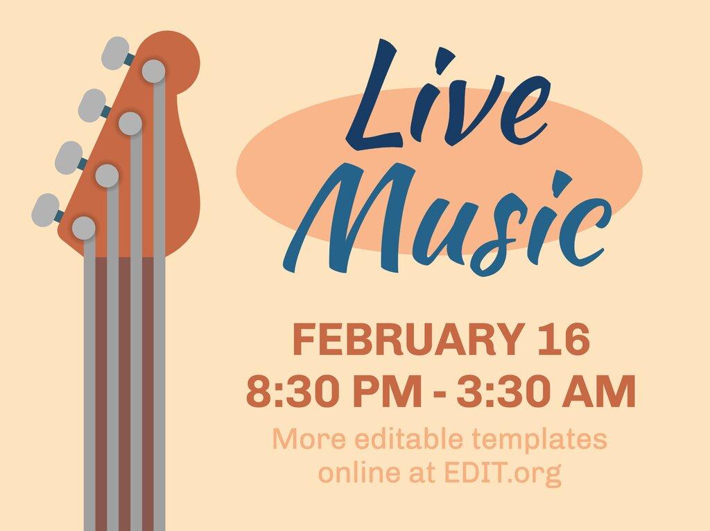 Edit a live concert flyer