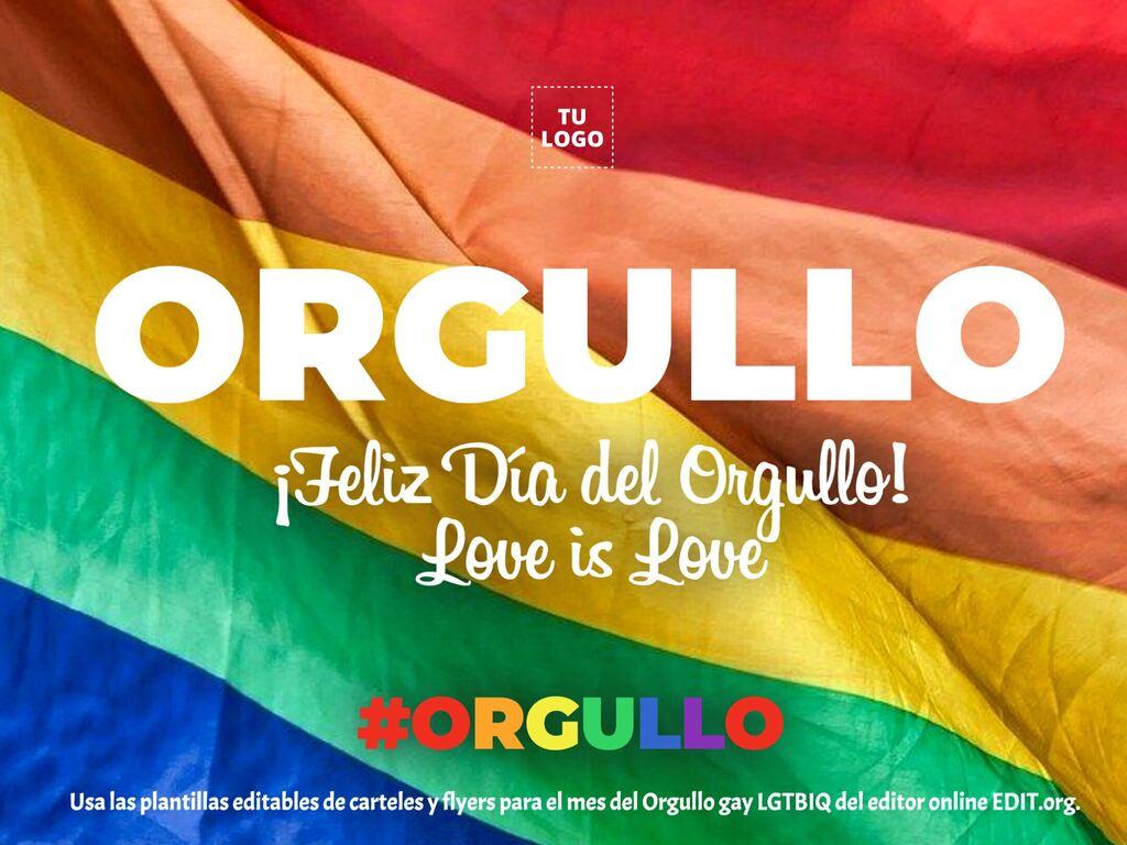 Plantillas de carteles y flyers para el Día del Orgullo