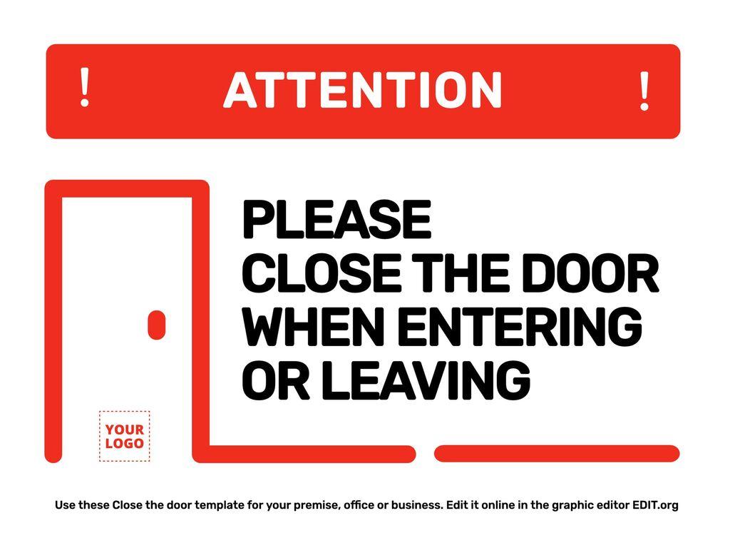 Edit a Close the door template