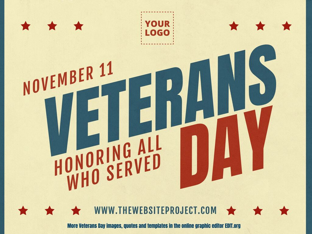 Veterans Day customizable flyers templates