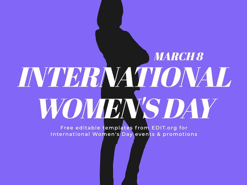 Edit a Women\'s Day template