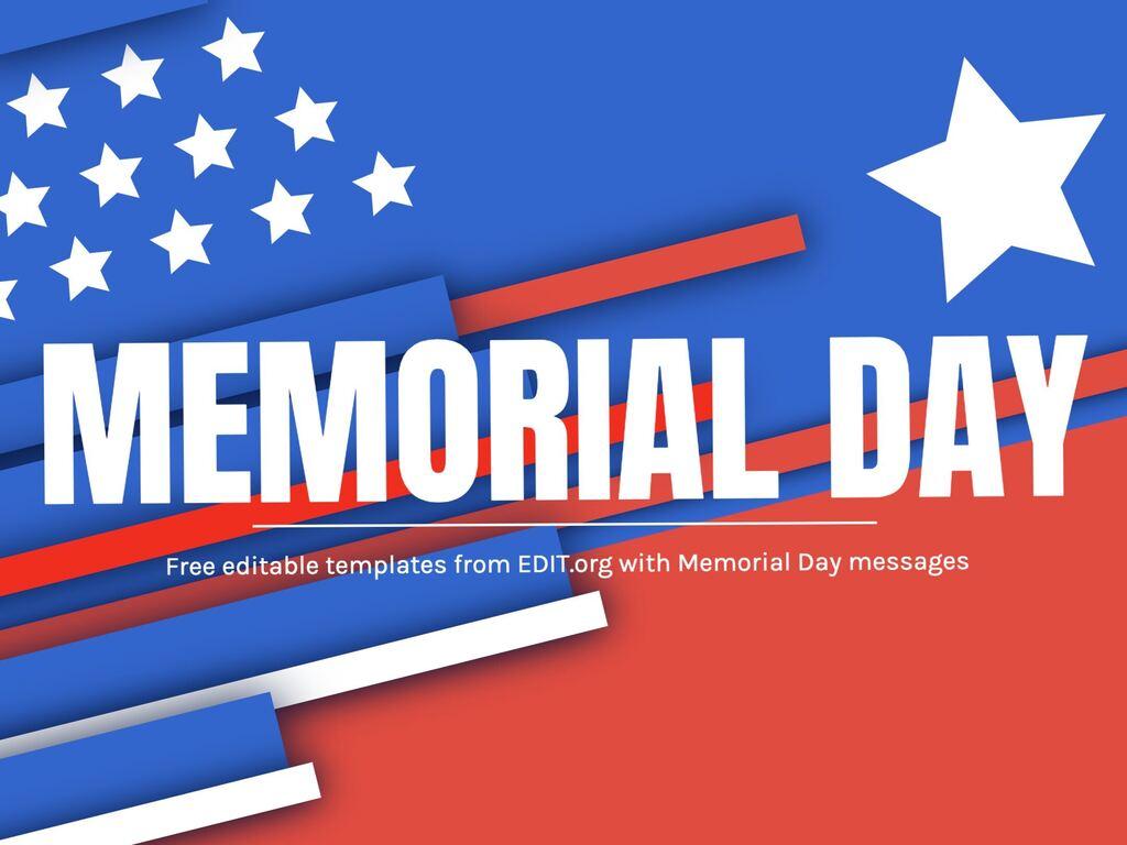 Edit a Memorial Day template