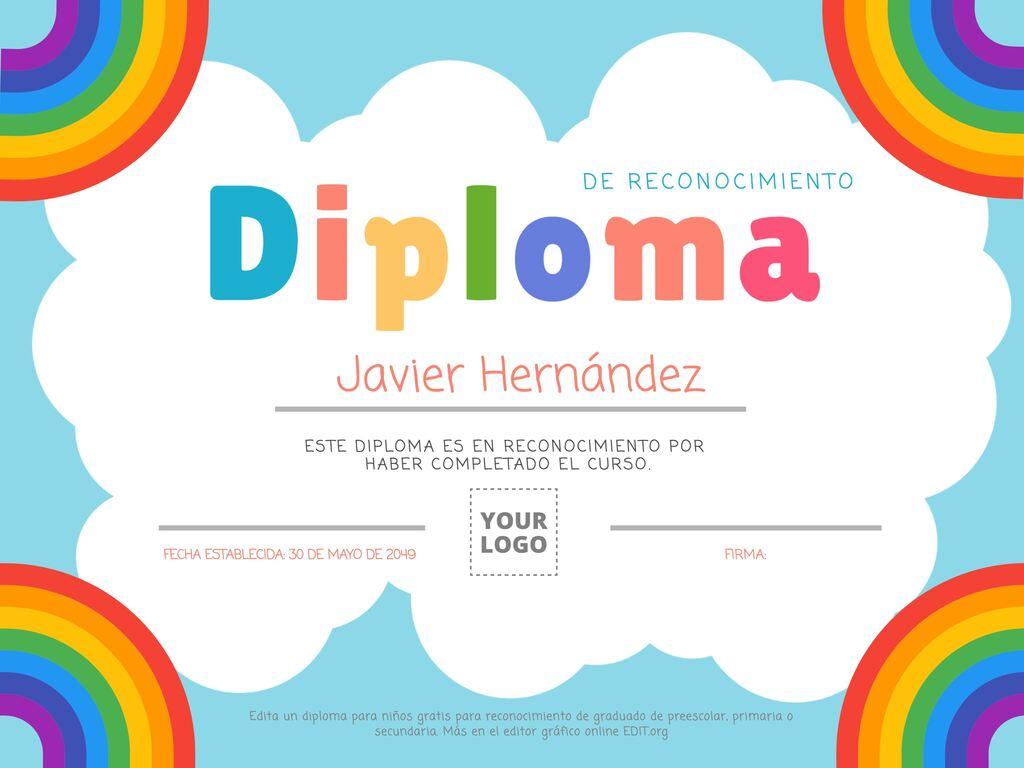 Editar um diploma para crianças