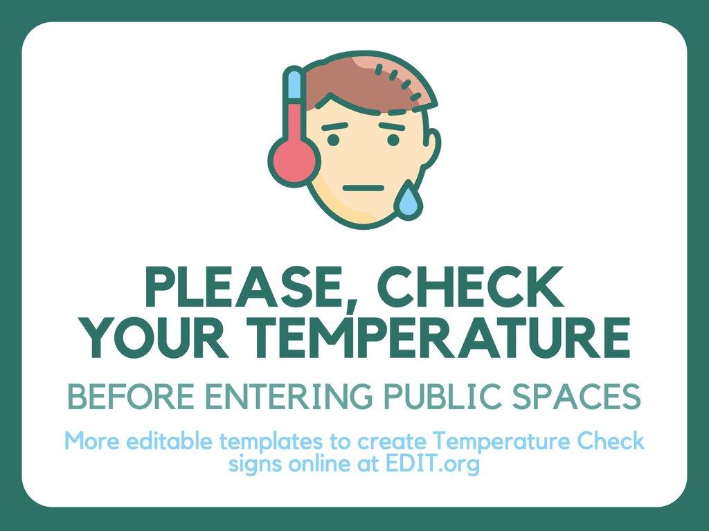 Edit a Temperature Check sign