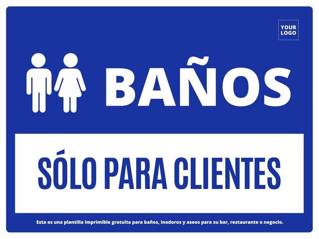 Crea tu cartel de baño exclusivo