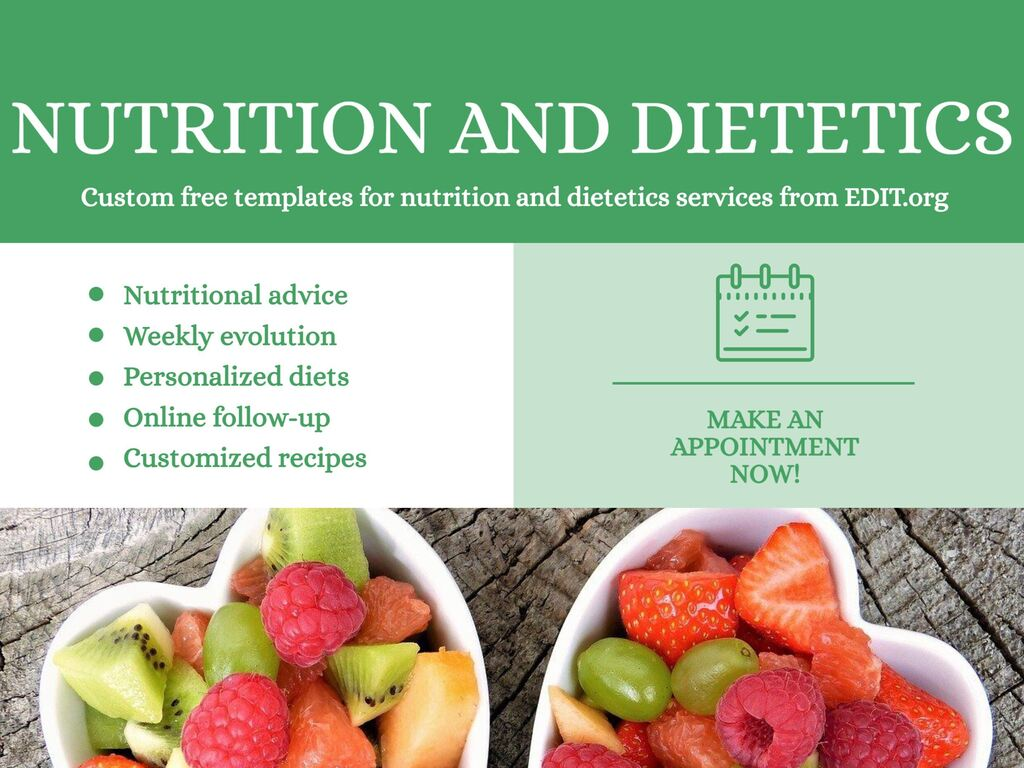 Edit a template for nutritionists and dietitians