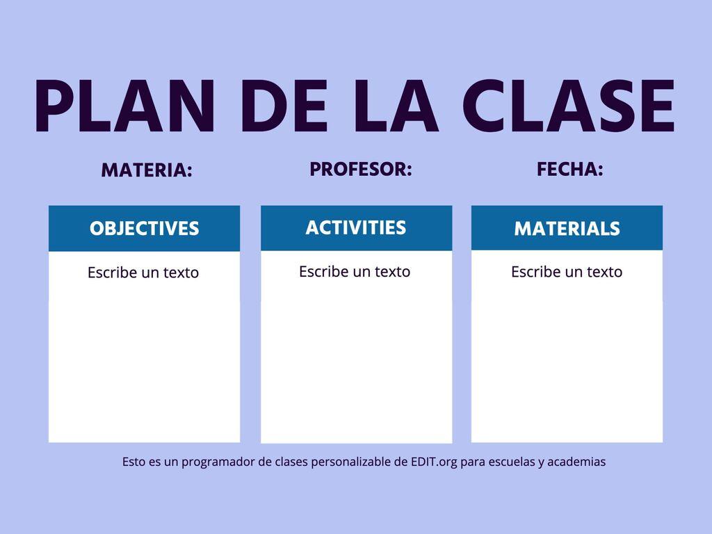 Crie um plano de aula online