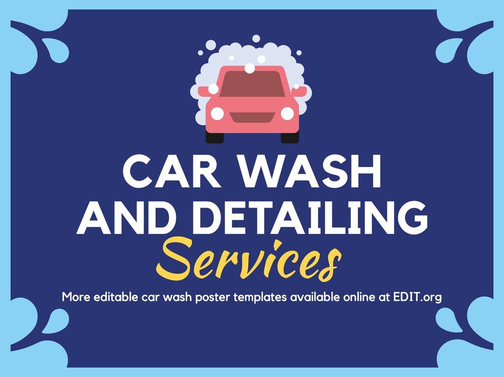 Edit a design for car wash services