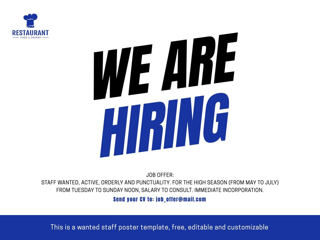 We are hiring poster templates to print and share
