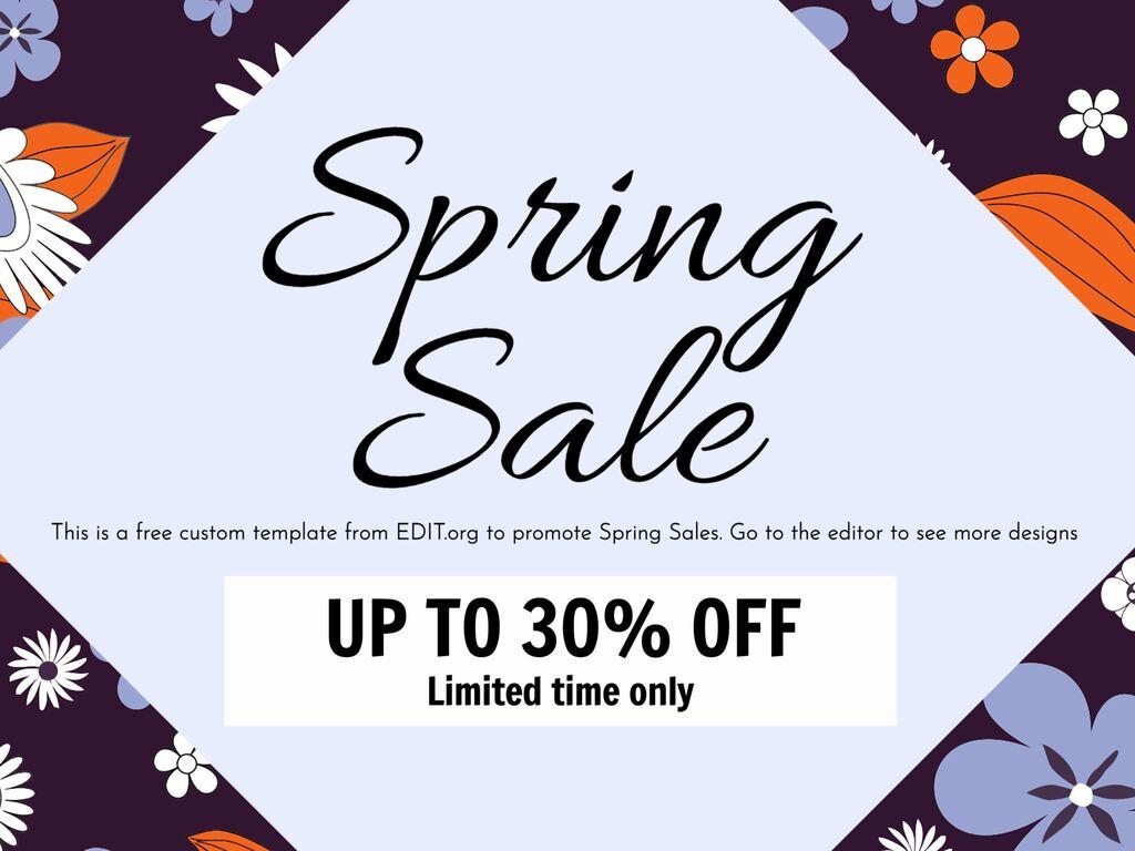 Edit a spring sale template