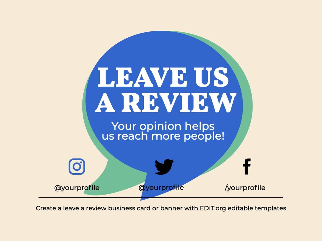 Edit a template to ask for reviews