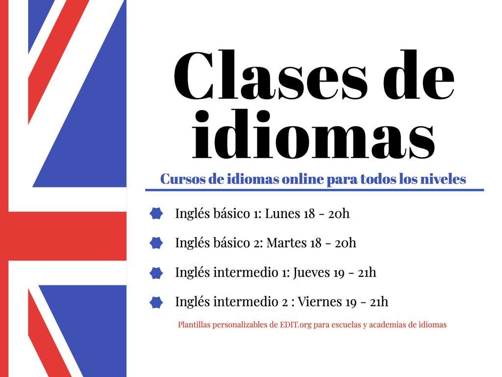 Edita un diseño para tus clases de idiomas