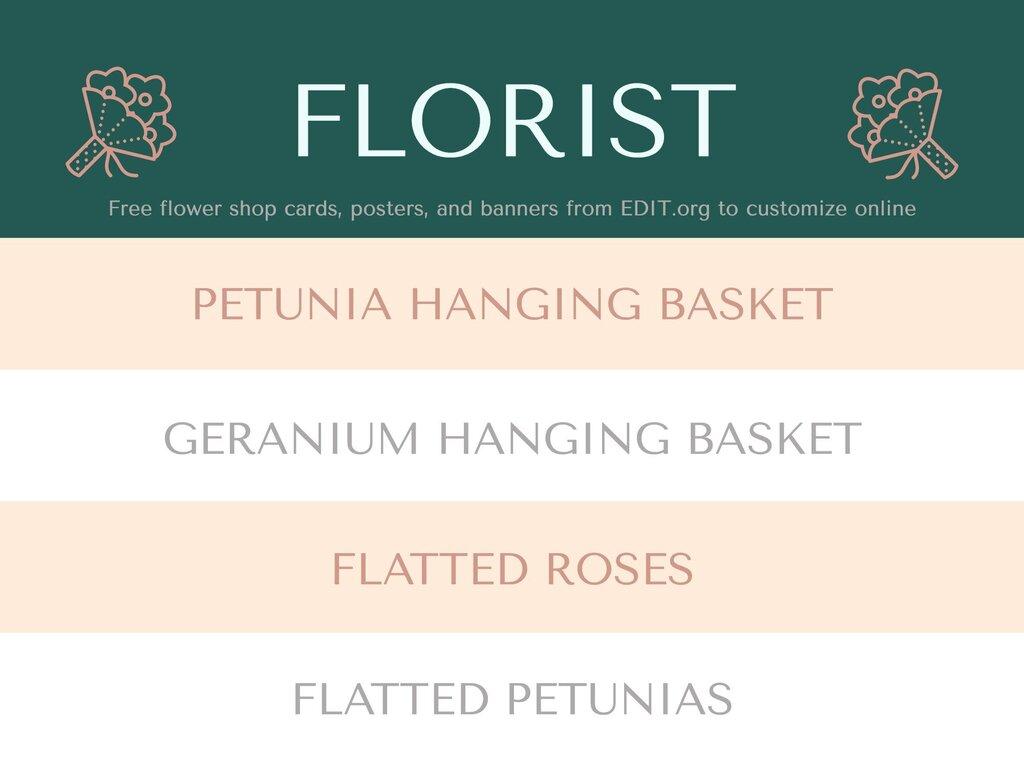 Edit a design for florists