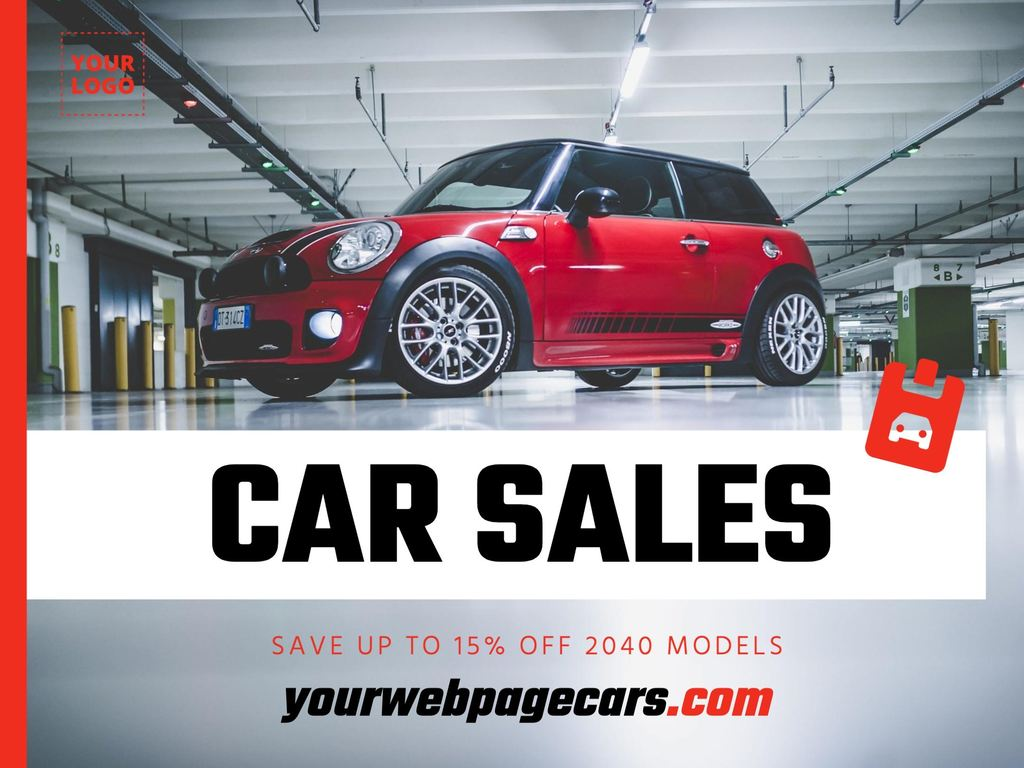 Marketing guide and designs for car sales