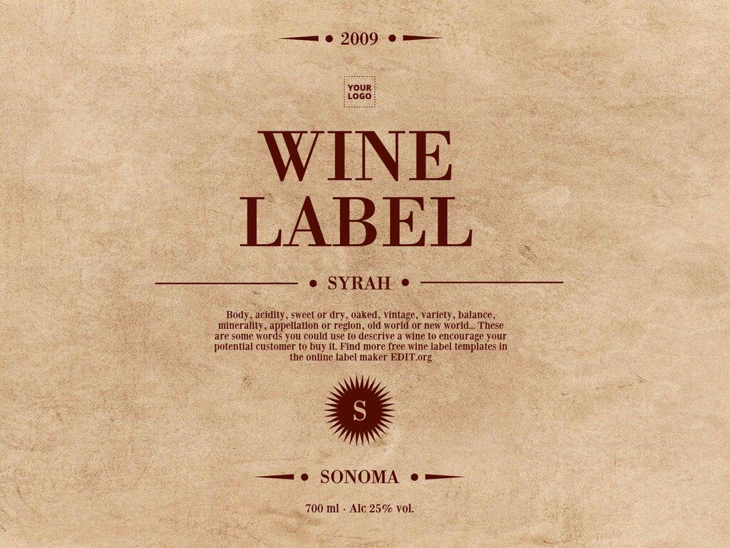 Edit a wine label