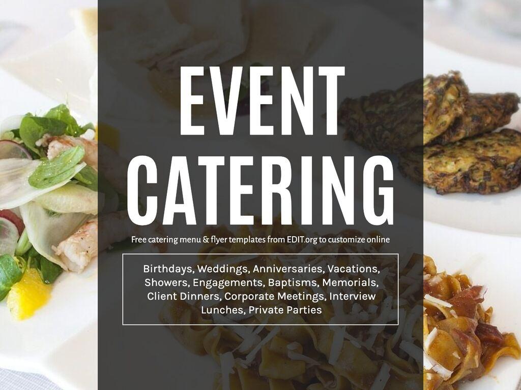 Edit a catering menu