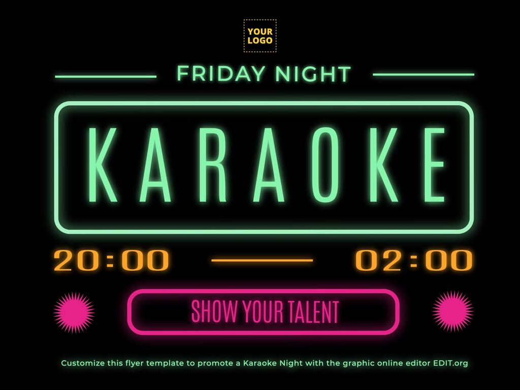Edit a Karaoke flyer