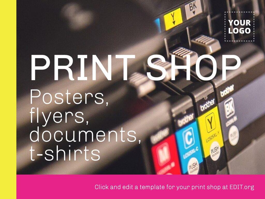 Print shop design templates