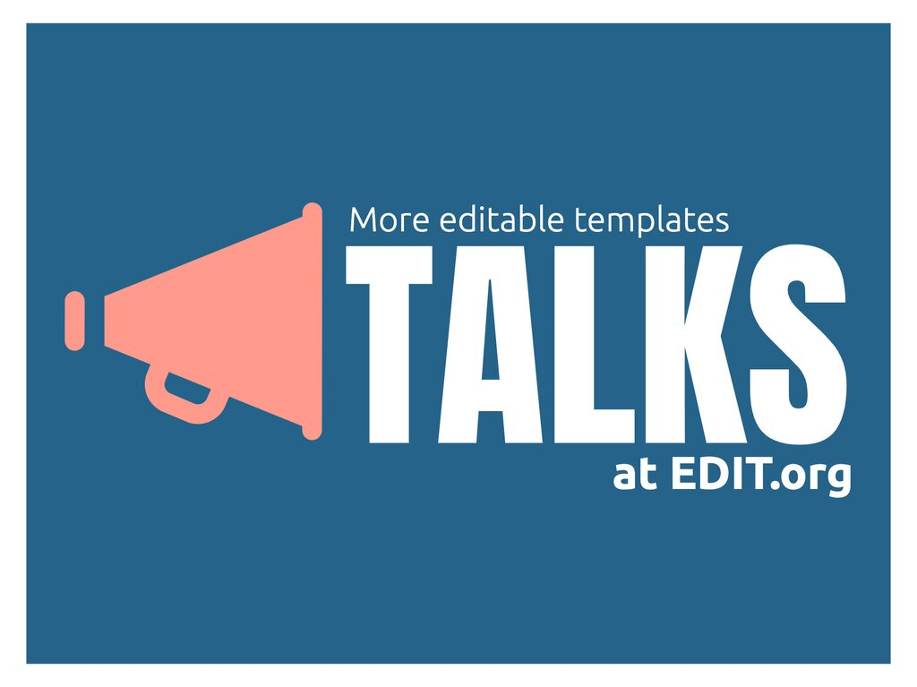 Edit a flyer for your talk