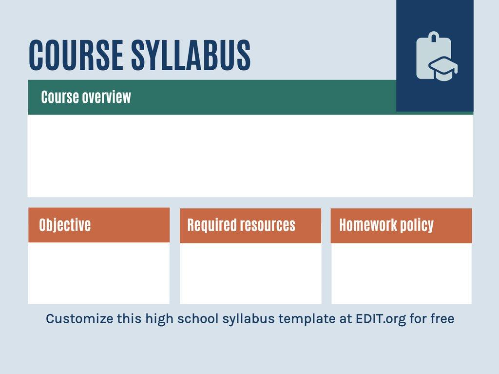 Edit a syllabus document