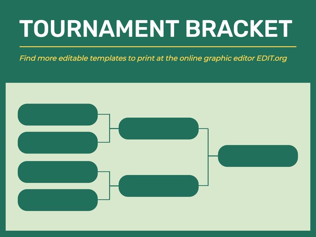 Edit a tournament bracket